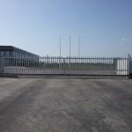 Dvokrilna klizna industrijska kapija, Fulgar, Zrenjanin
