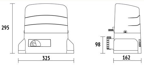 Dimenzije motora Roger R30